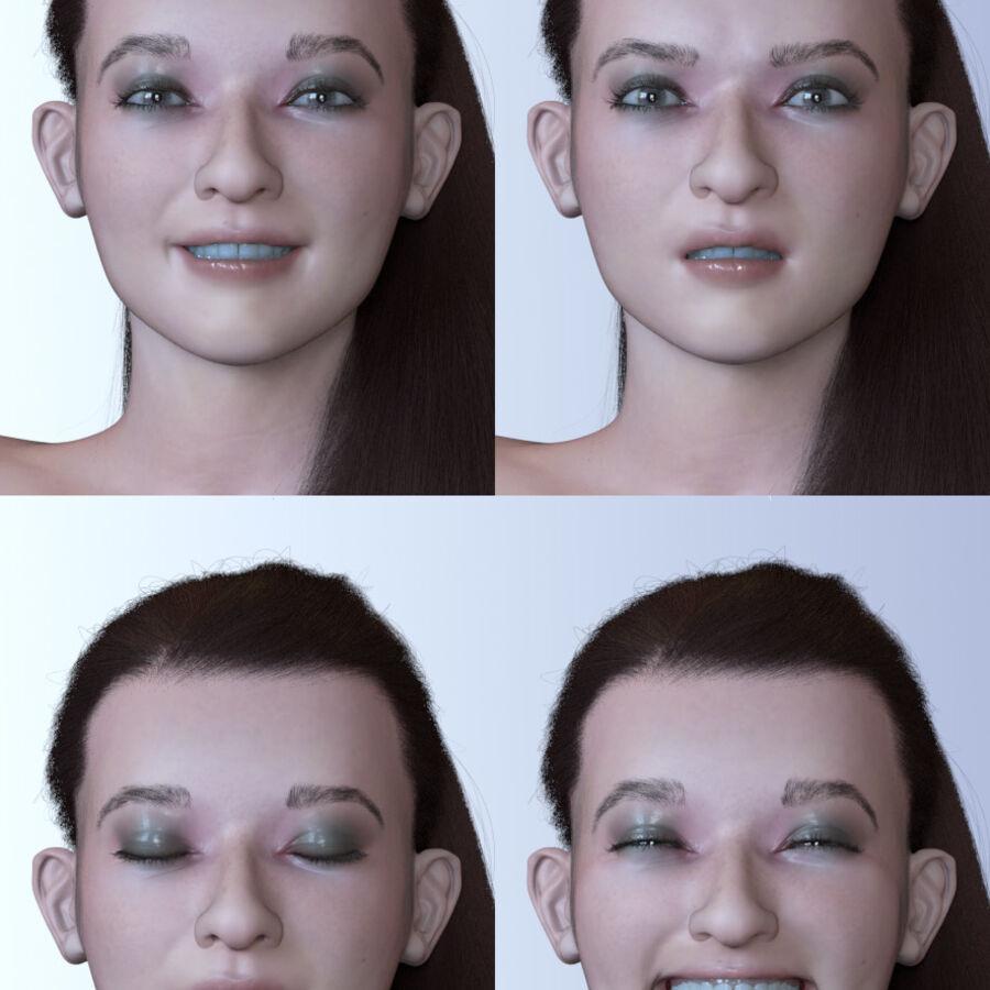 Femme truquée royalty-free 3d model - Preview no. 5