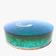 바다 경치 3d model