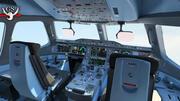 Airbus A350 cockpit high metallization VR 3d model