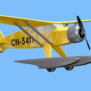 Avion de tintin modelo 3d