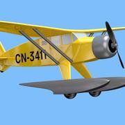 Avion de Tintin 3d model