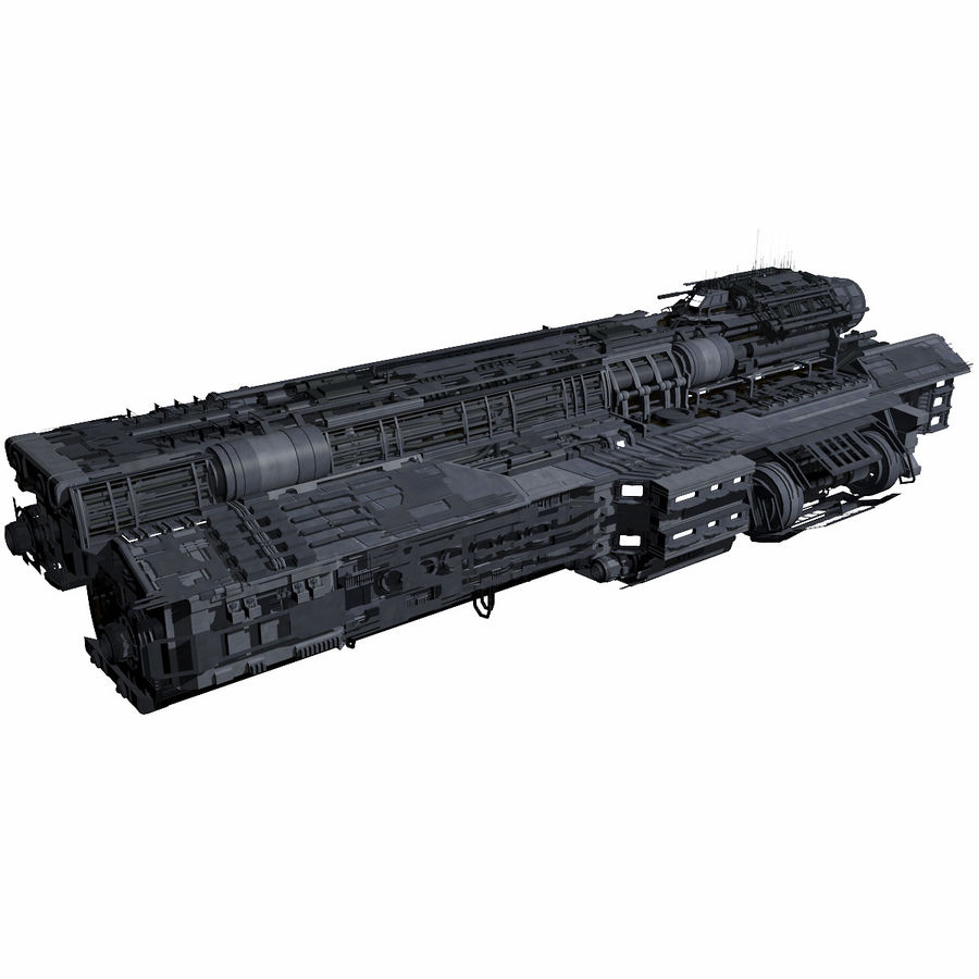 Sci Fi Large Spaceship 3 - Sci-Fi Futuristic Spacecraft Battleship Transport royalty-free 3d model - Preview no. 2