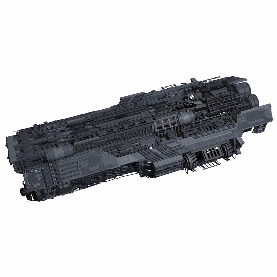 Sci Fi Large Spaceship 3 - Sci-Fi Futuristic Spacecraft Battleship Transport royalty-free 3d model - Preview no. 1