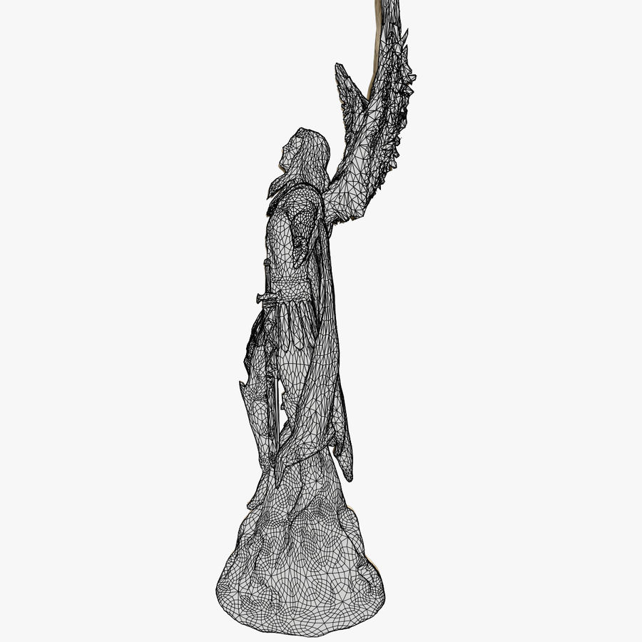Statua anioła royalty-free 3d model - Preview no. 9
