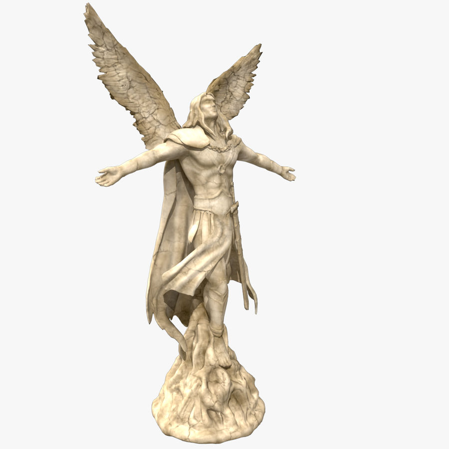 Statua anioła royalty-free 3d model - Preview no. 7