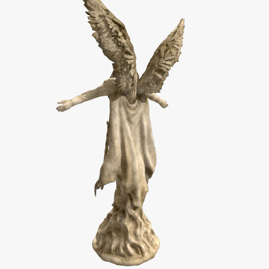 Statua anioła royalty-free 3d model - Preview no. 4