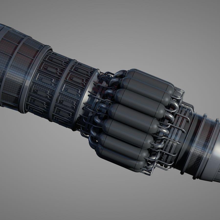 Szczegółowy silnik turbinowy odrzutowy royalty-free 3d model - Preview no. 3