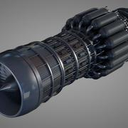 Detaljerad Jet Turbine Engine 3d model