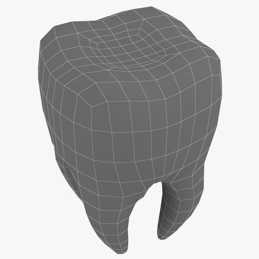 Tooth royalty-free 3d model - Preview no. 6