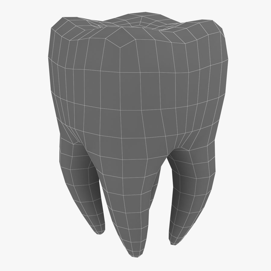 Tooth royalty-free 3d model - Preview no. 5