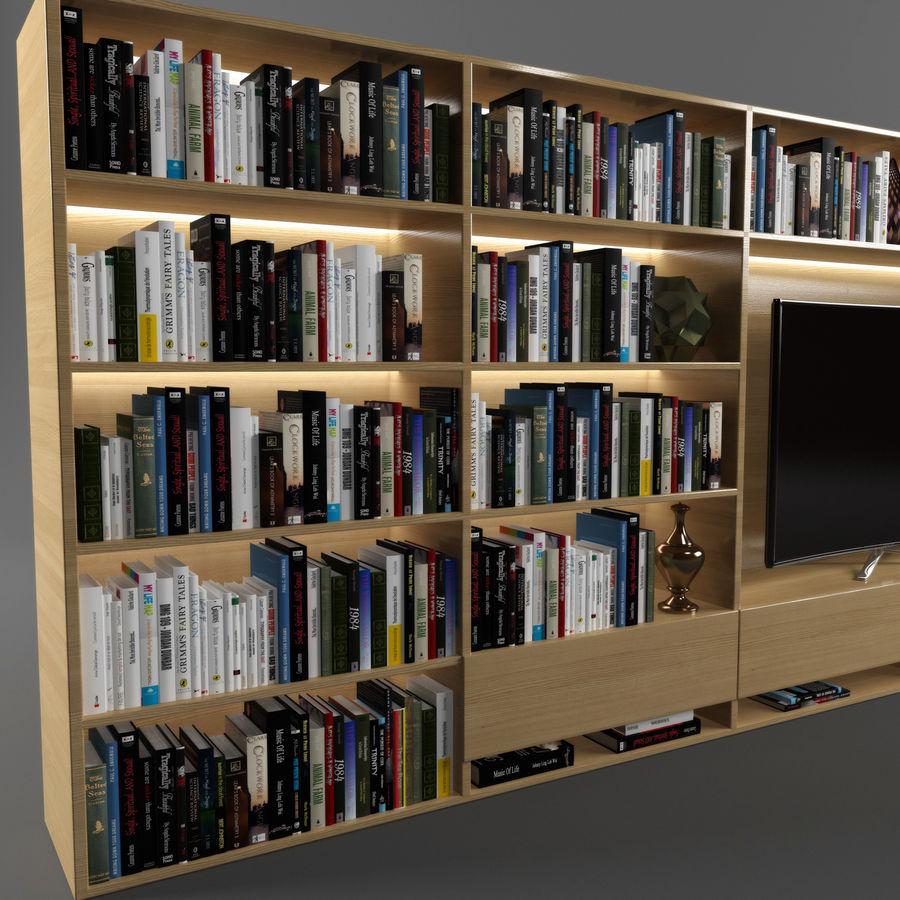 Boekenkast 2 royalty-free 3d model - Preview no. 2