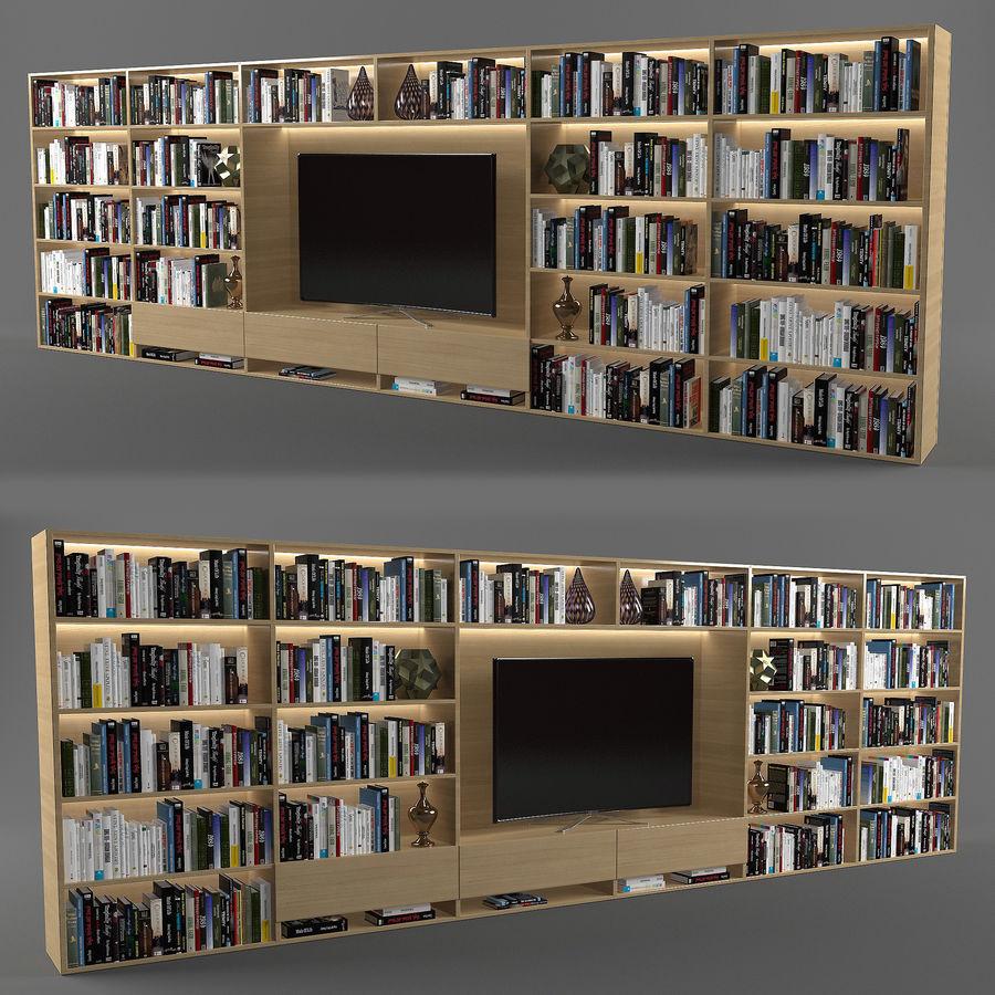 Boekenkast 2 royalty-free 3d model - Preview no. 1
