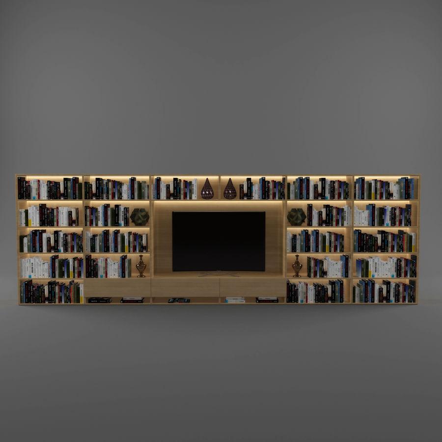 Boekenkast 2 royalty-free 3d model - Preview no. 4