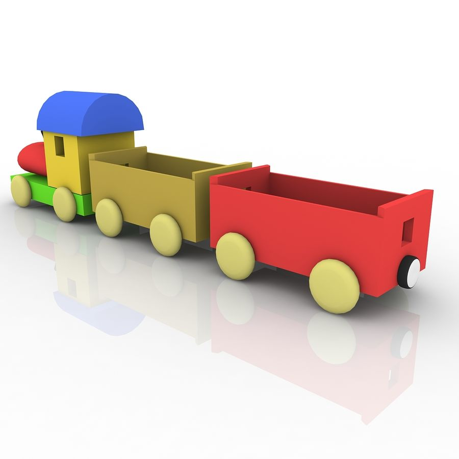Treno giocattolo royalty-free 3d model - Preview no. 3