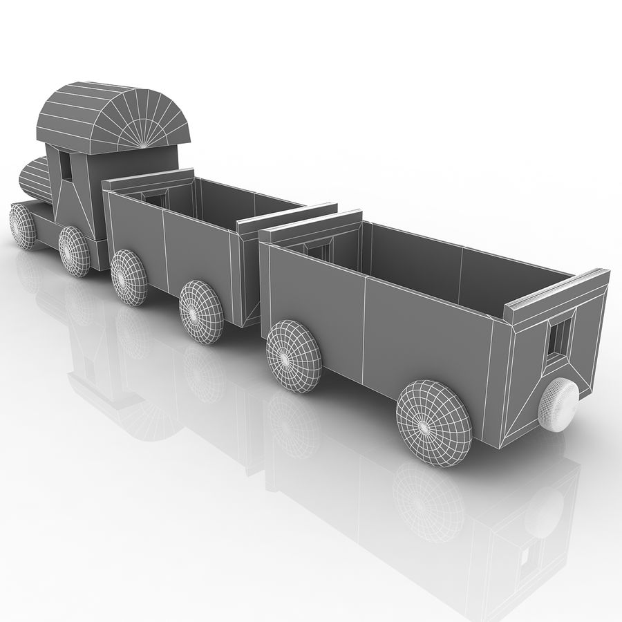 Treno giocattolo royalty-free 3d model - Preview no. 8