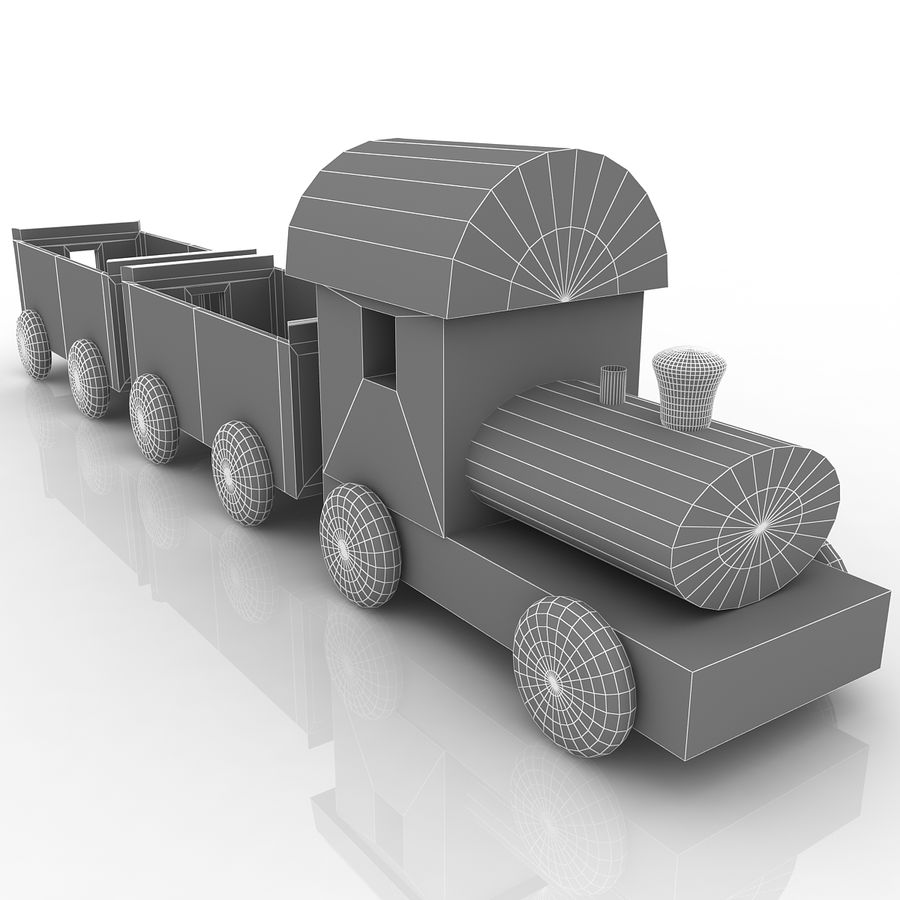 Treno giocattolo royalty-free 3d model - Preview no. 6