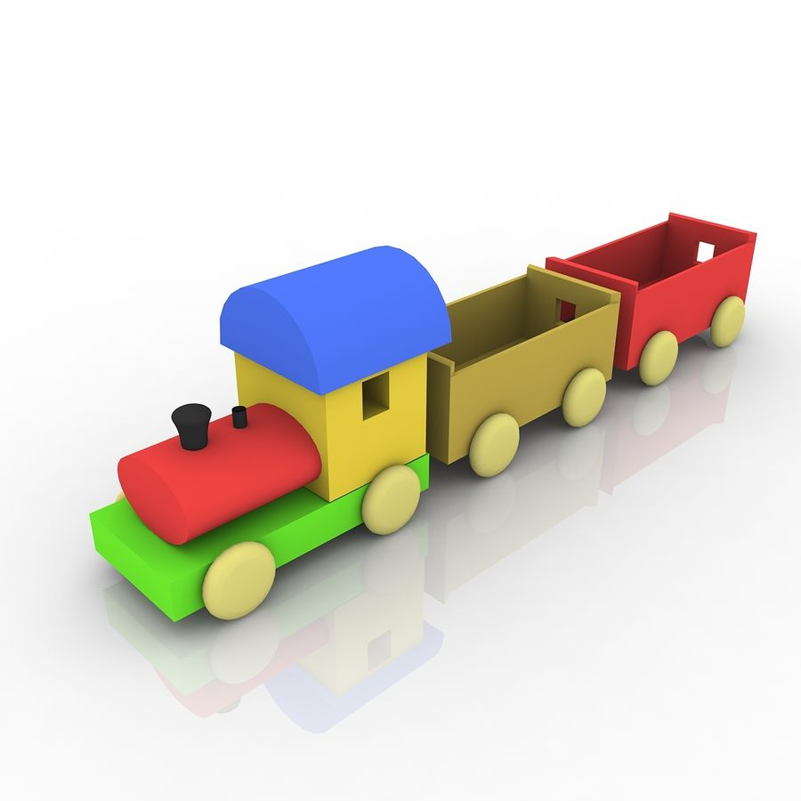 おもちゃの列車 royalty-free 3d model - Preview no. 1