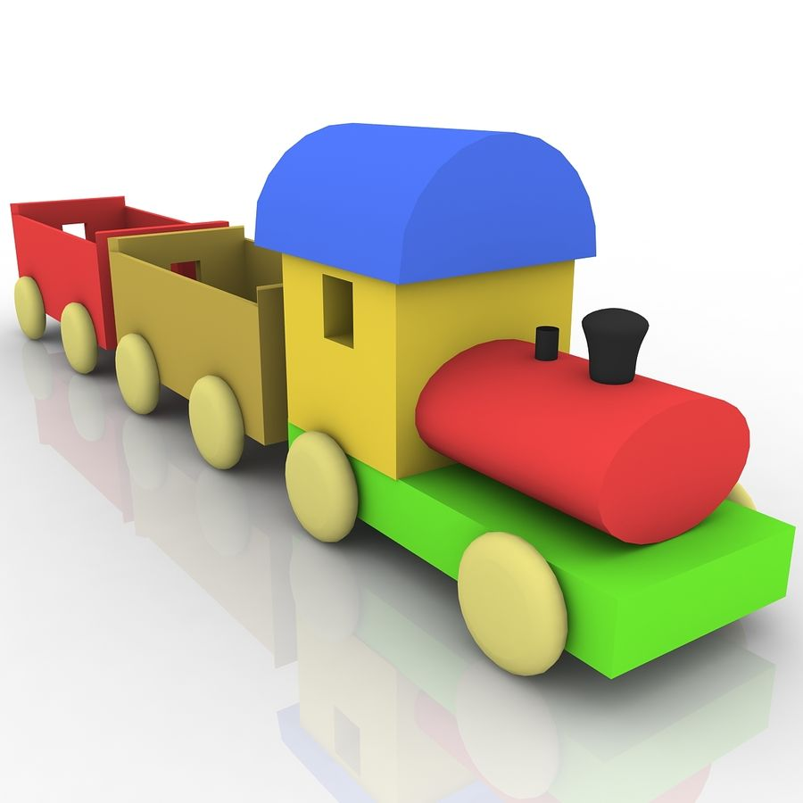 Treno giocattolo royalty-free 3d model - Preview no. 5