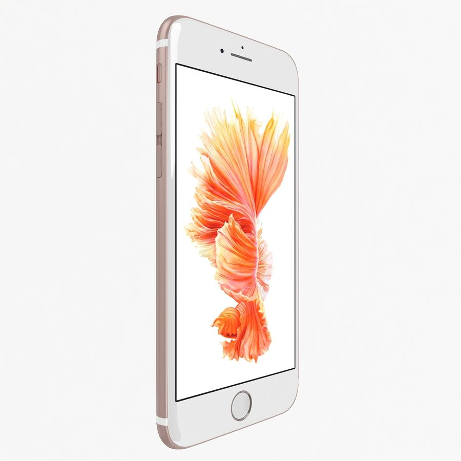 Apple iPhone 6s Rose Gold royalty-free 3d model - Preview no. 2
