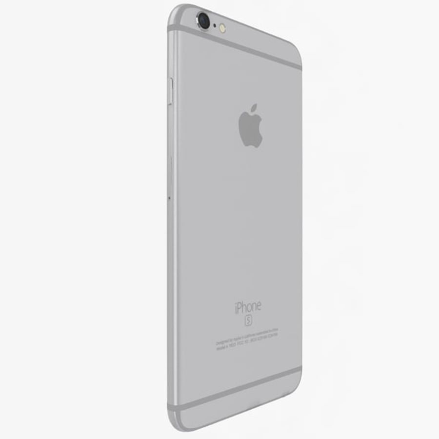 Apple iPhone 6s Plus Silver royalty-free 3d model - Preview no. 4