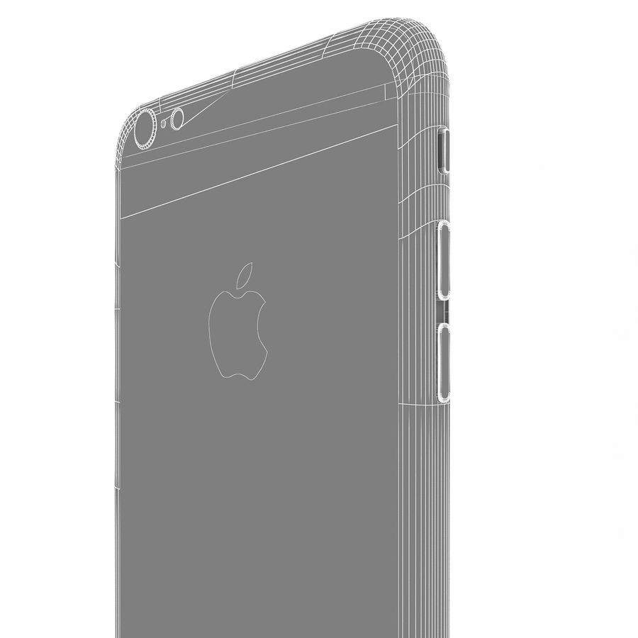 Apple iPhone 6s Plus Silver royalty-free 3d model - Preview no. 16