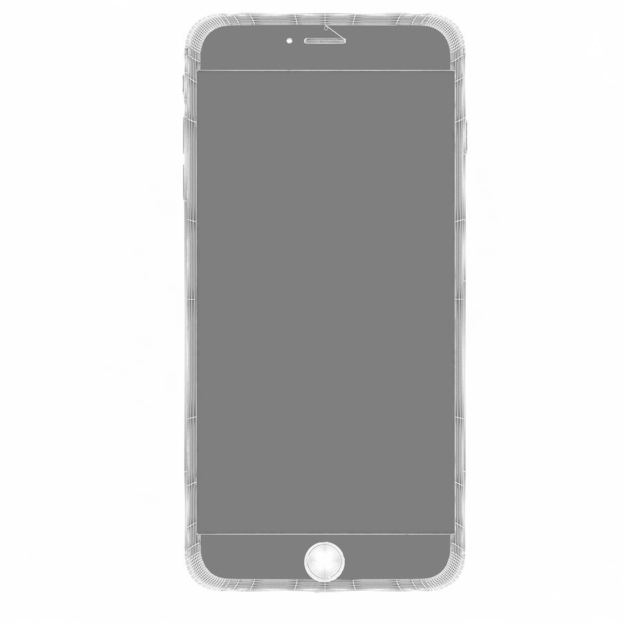 Apple iPhone 6s Plus Silver royalty-free 3d model - Preview no. 13