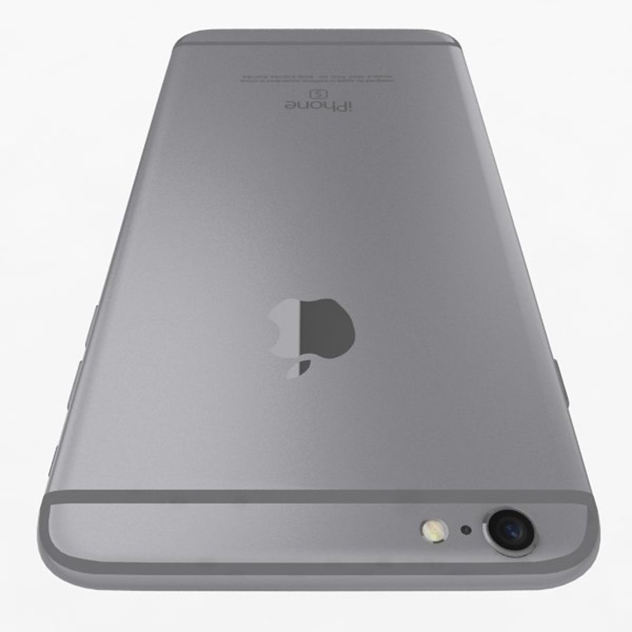 Apple iPhone 6s Plus Space Grey royalty-free 3d model - Preview no. 6