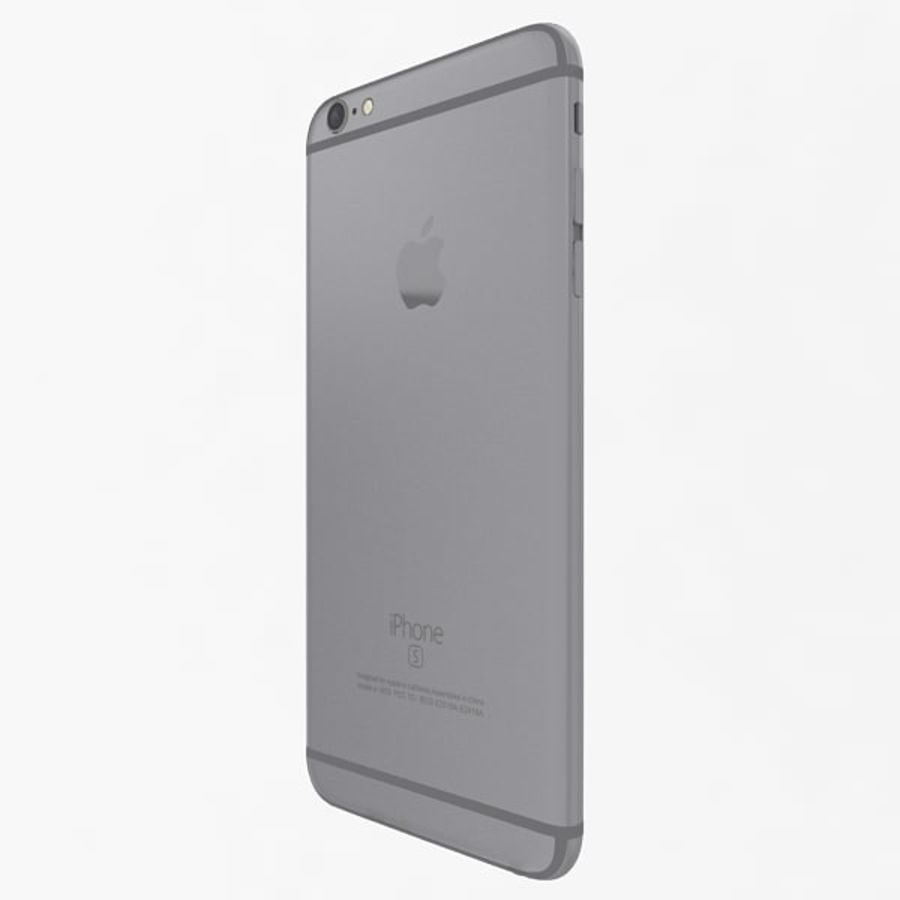 Apple iPhone 6s Plus Space Grey royalty-free 3d model - Preview no. 5
