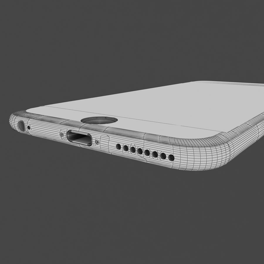 Apple iPhone 6s Plus Space Grey royalty-free 3d model - Preview no. 12