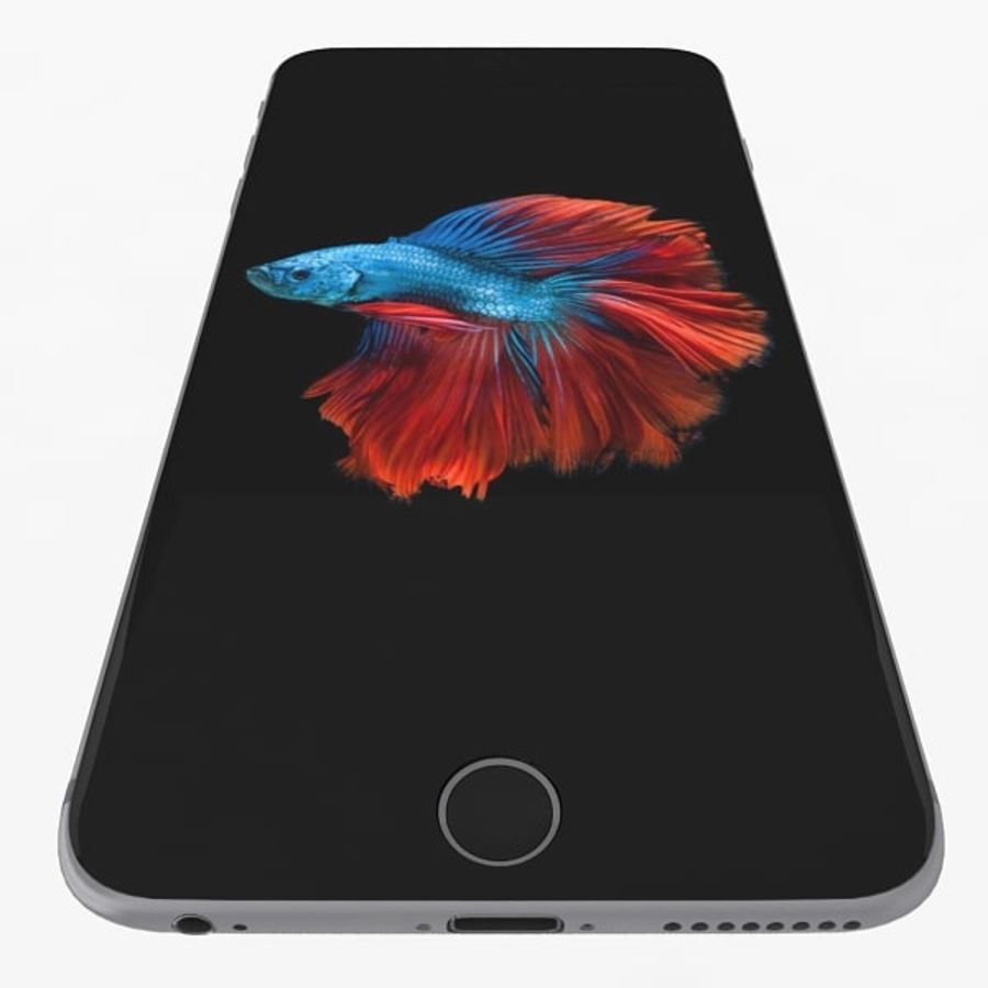 Apple iPhone 6s Plus Space Grey royalty-free 3d model - Preview no. 7