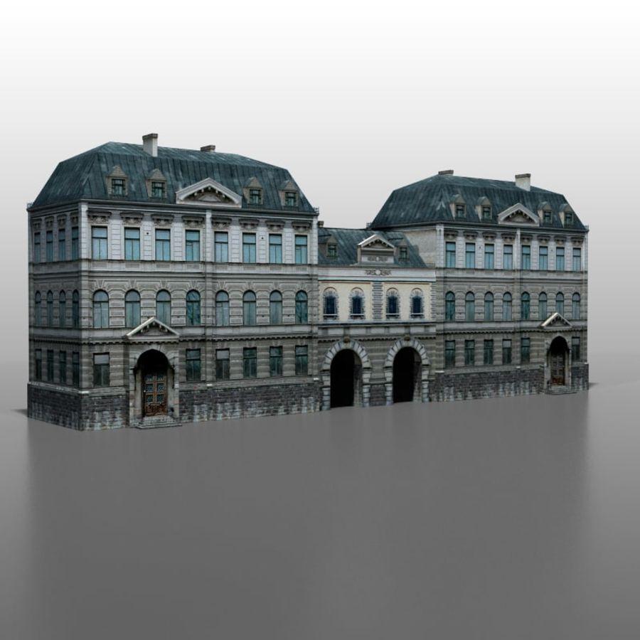 Frans huis v5 royalty-free 3d model - Preview no. 2