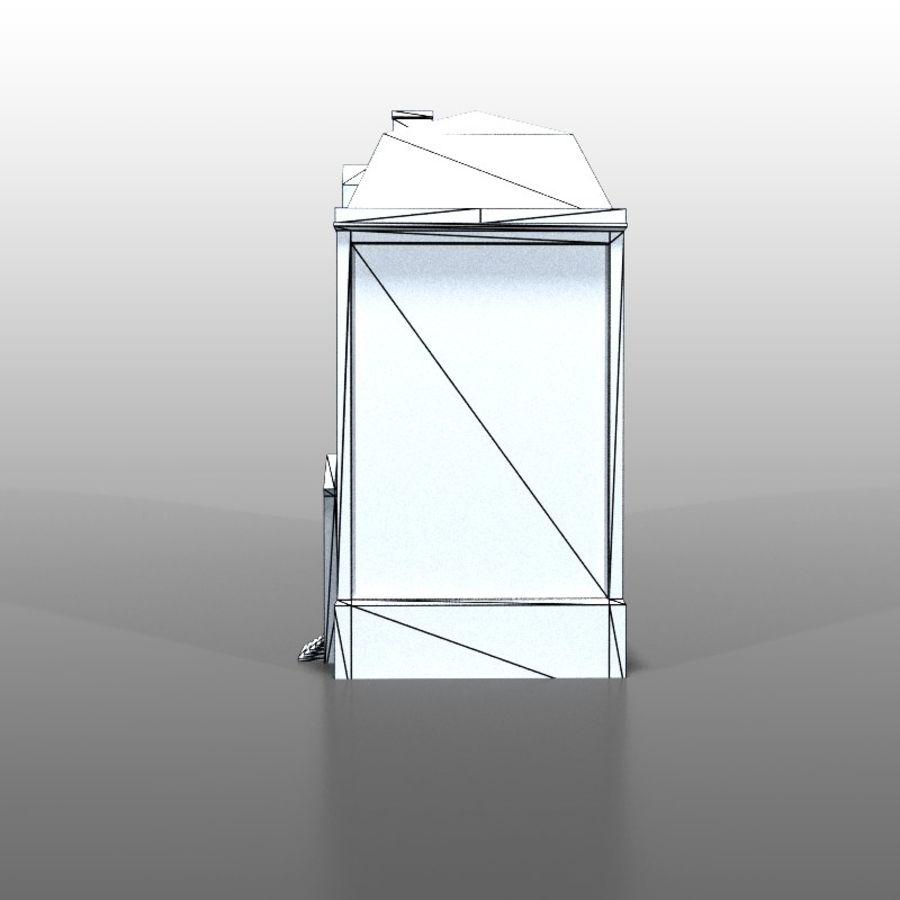 Frans huis v5 royalty-free 3d model - Preview no. 7