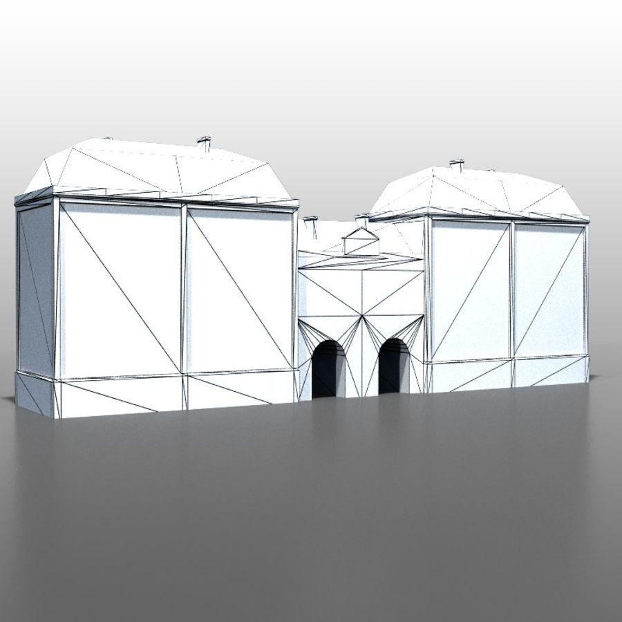 Frans huis v5 royalty-free 3d model - Preview no. 6