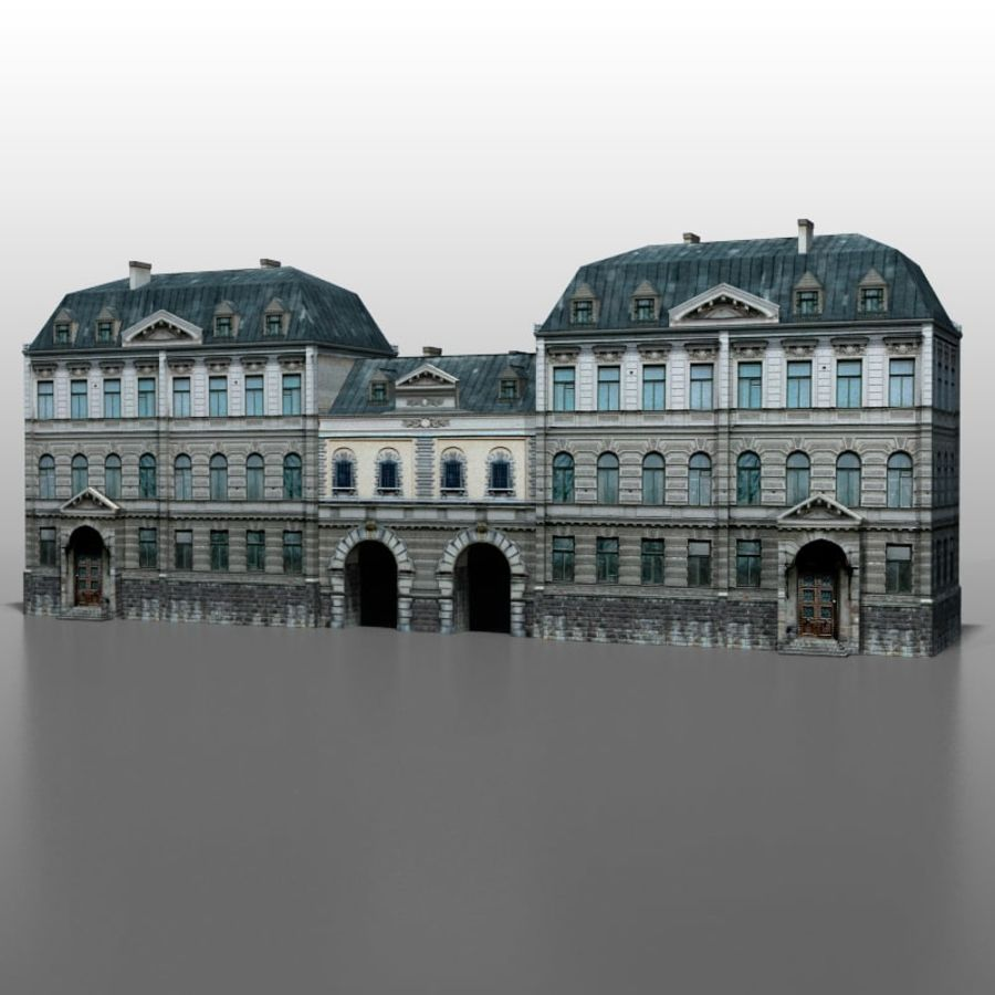 Frans huis v5 royalty-free 3d model - Preview no. 1