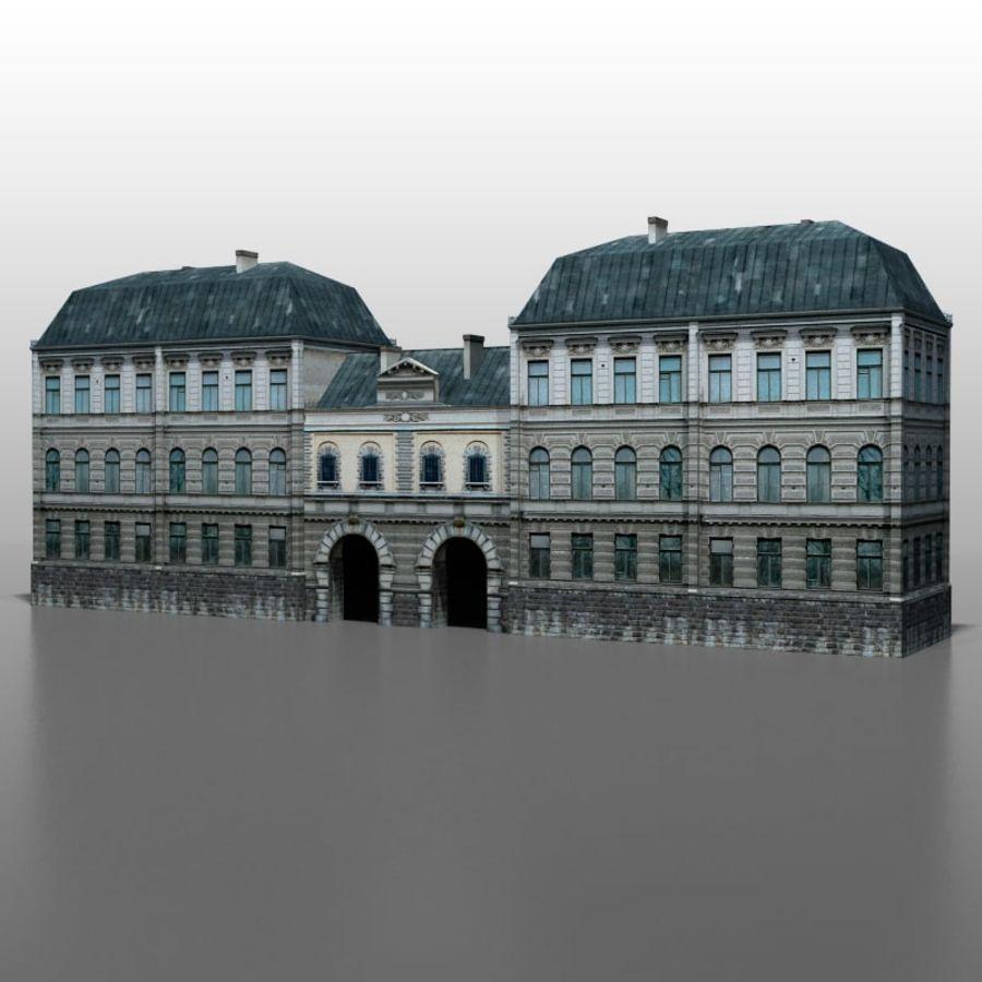 Frans huis v5 royalty-free 3d model - Preview no. 4