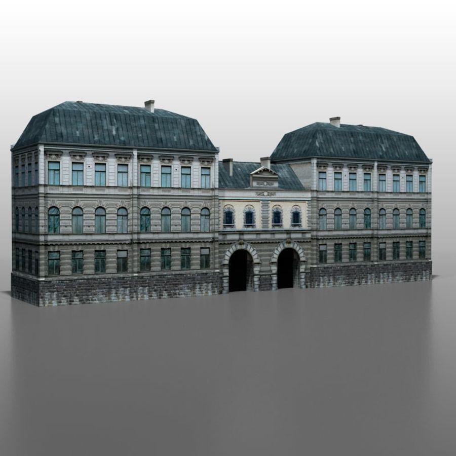 Frans huis v5 royalty-free 3d model - Preview no. 5