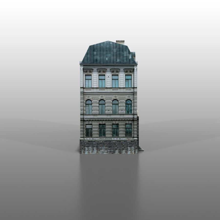 Frans huis v5 royalty-free 3d model - Preview no. 3