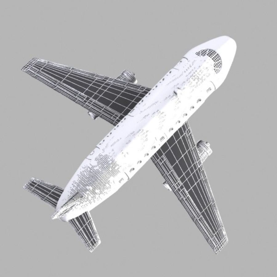 Toon Commercial Aircraft royalty-free 3d model - Preview no. 13