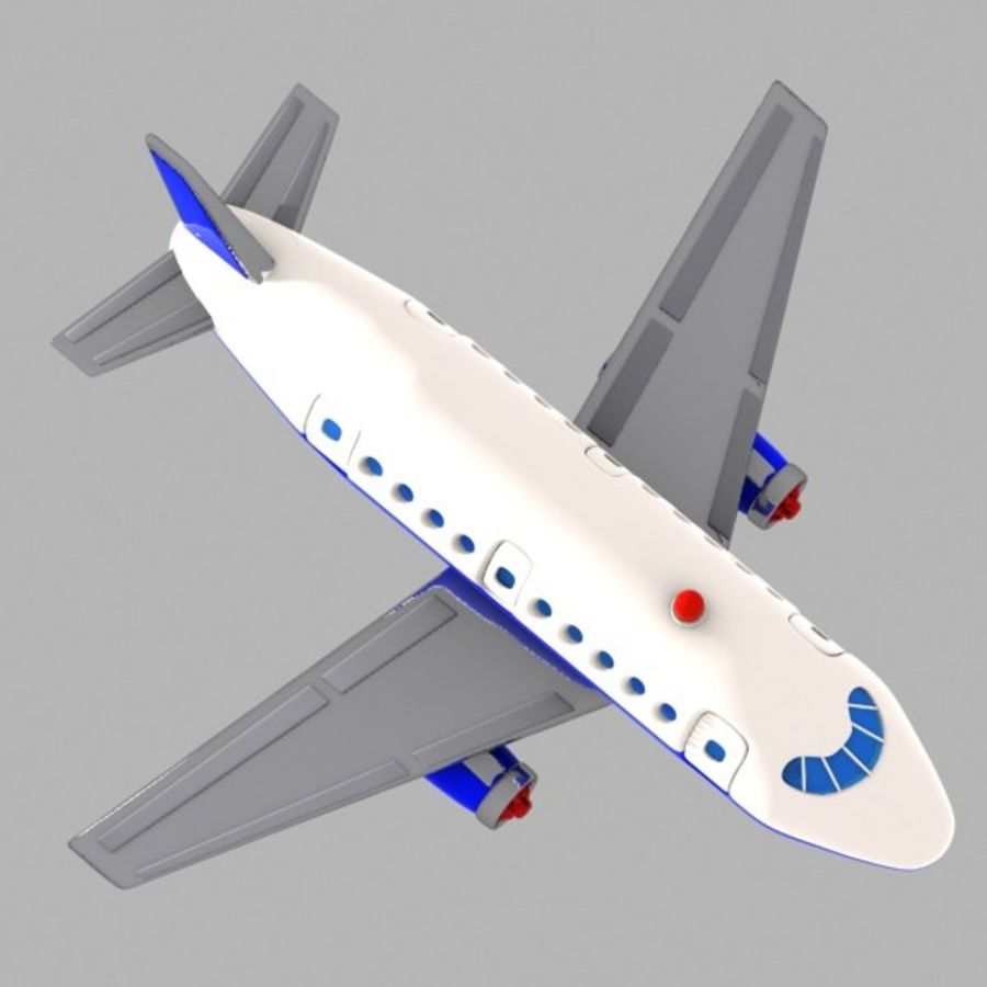 Toon Commercial Aircraft royalty-free 3d model - Preview no. 5
