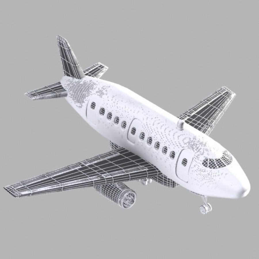 Toon Commercial Aircraft royalty-free 3d model - Preview no. 10