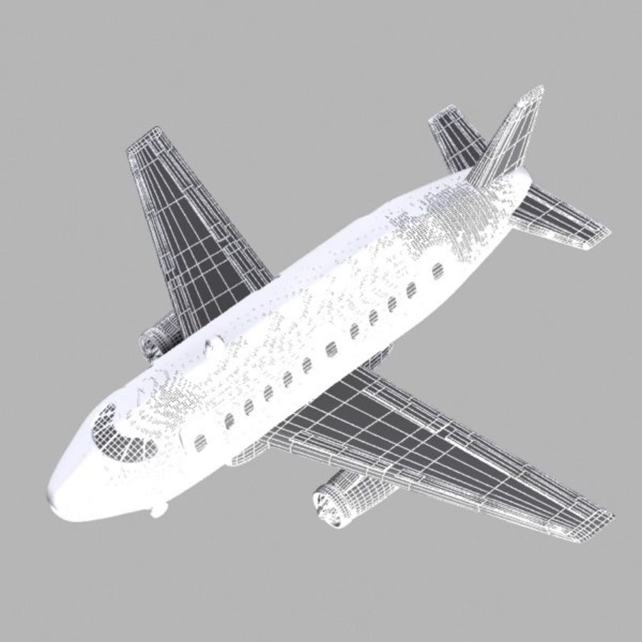 Toon Commercial Aircraft royalty-free 3d model - Preview no. 12