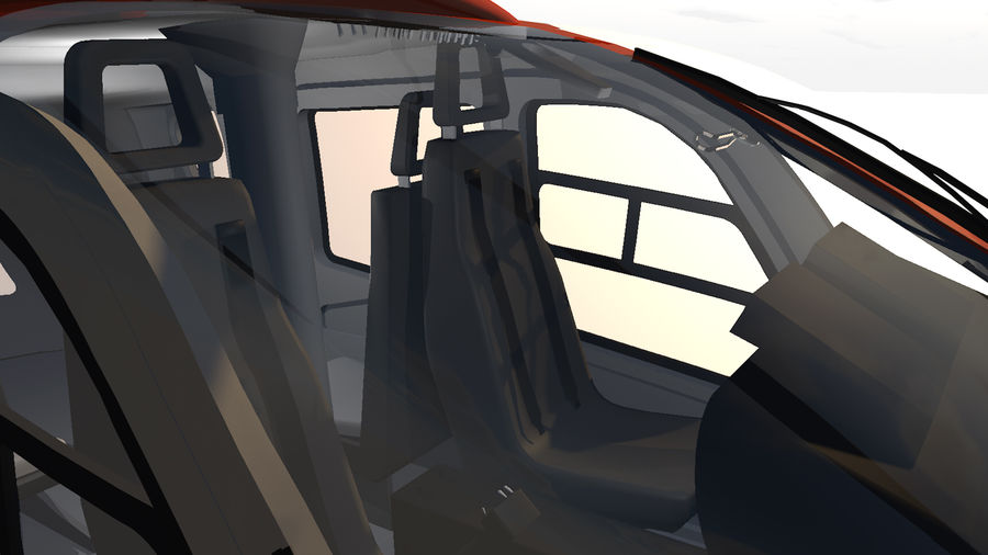 Helicopter With Rotating Blades royalty-free 3d model - Preview no. 33