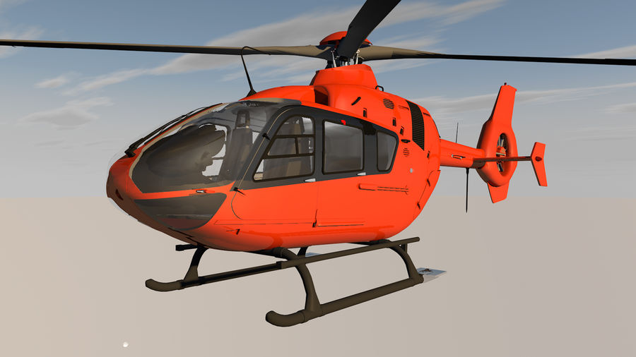 Helicopter With Rotating Blades royalty-free 3d model - Preview no. 8