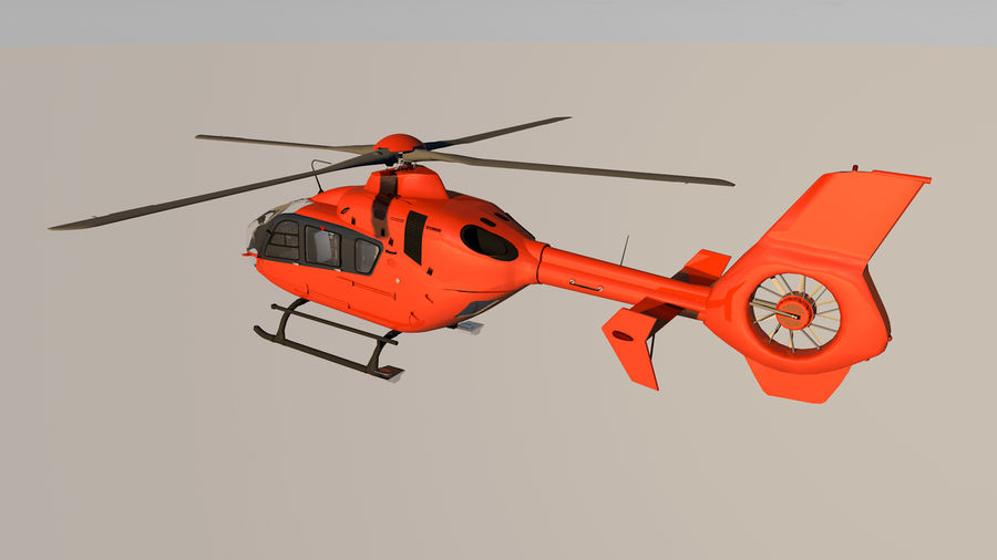 Helicopter With Rotating Blades royalty-free 3d model - Preview no. 13