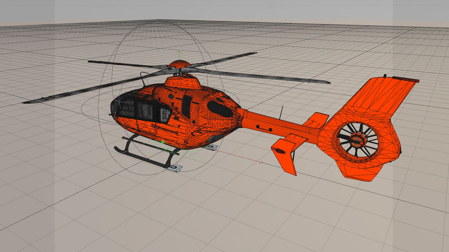 Helicopter With Rotating Blades royalty-free 3d model - Preview no. 14