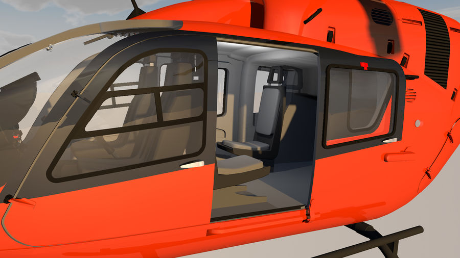 Helicopter With Rotating Blades royalty-free 3d model - Preview no. 18