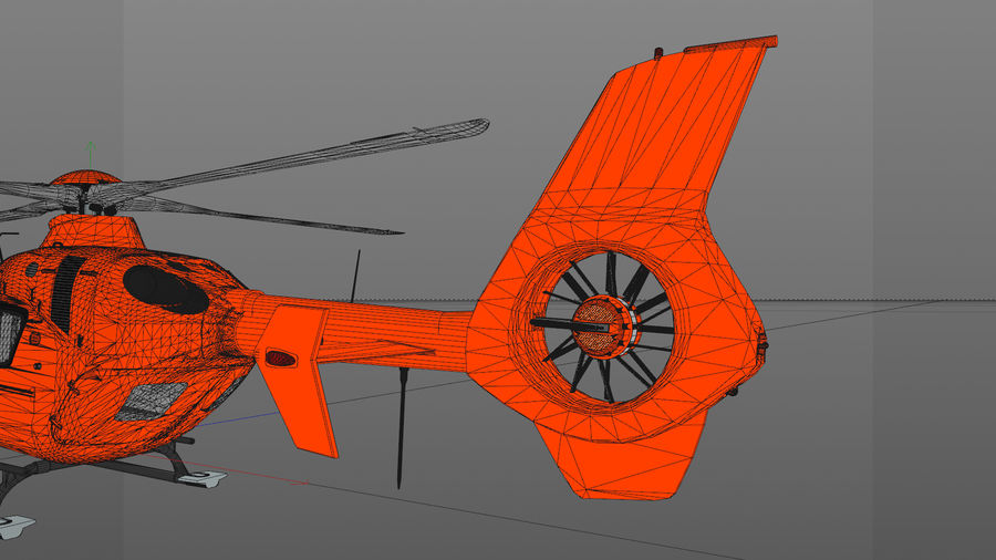 Helicopter With Rotating Blades royalty-free 3d model - Preview no. 35
