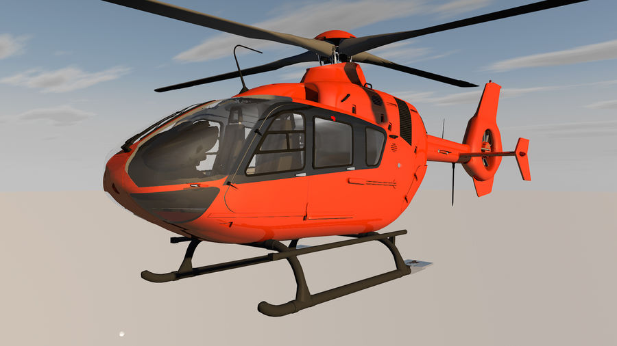 Helicopter With Rotating Blades royalty-free 3d model - Preview no. 9
