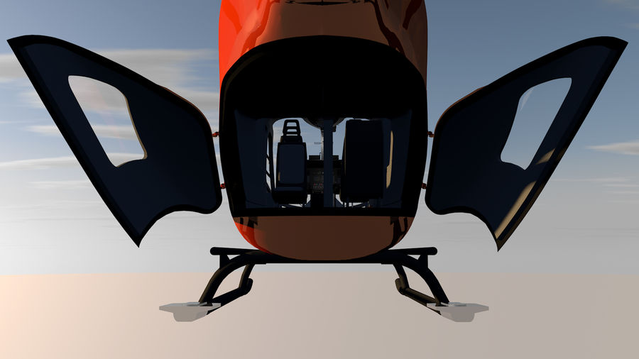 Helicopter With Rotating Blades royalty-free 3d model - Preview no. 31