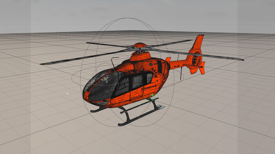 Helicopter With Rotating Blades royalty-free 3d model - Preview no. 6